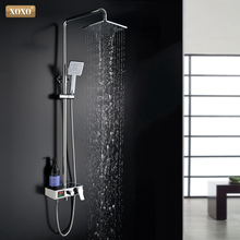 XOXO  luxury shower water dynamic digital intelligent display and shower faucet The led shower faucet set  Bathroom Mixer  88010