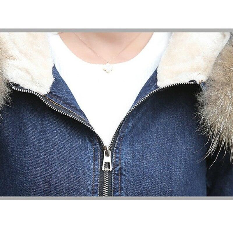 boy Femmes Jeans Veste Denim Fourrure Manteau Manches Bomber Chaud Cow Velours Femelle Nouveau Longues Lavé D'hiver Épaississent Plus De À Blue Bleu twPIqHHW