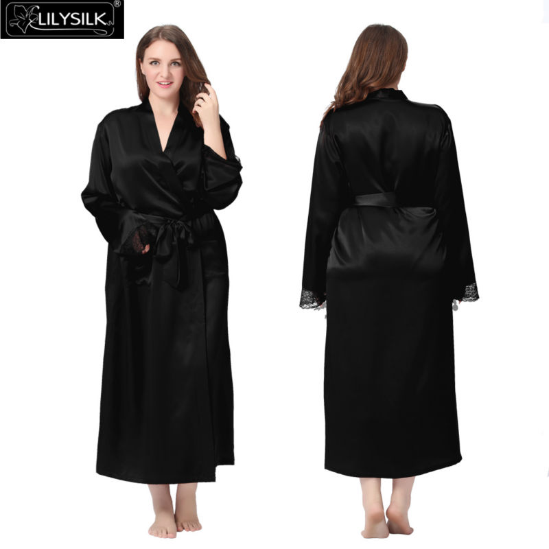 1000-black-22-momme-lacey-cuff-full-silk-robe-plus-size-01