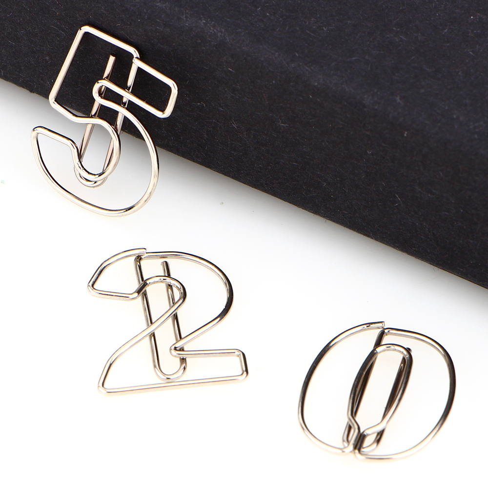 10pcs/pack metal animal shape paper clip hollow out memo bookmarks