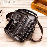 Betiteto Genuine Leather Messenger Bags Men Sling Shoulder Shopper Bag Male Sacoche Homme Sac A Main For Man Small Bag