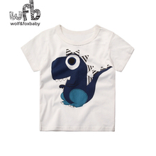 Розничная, футболка с короткими рукавами для детей от 2 до 10 лет классическая белая летняя детская футболка с рисунком