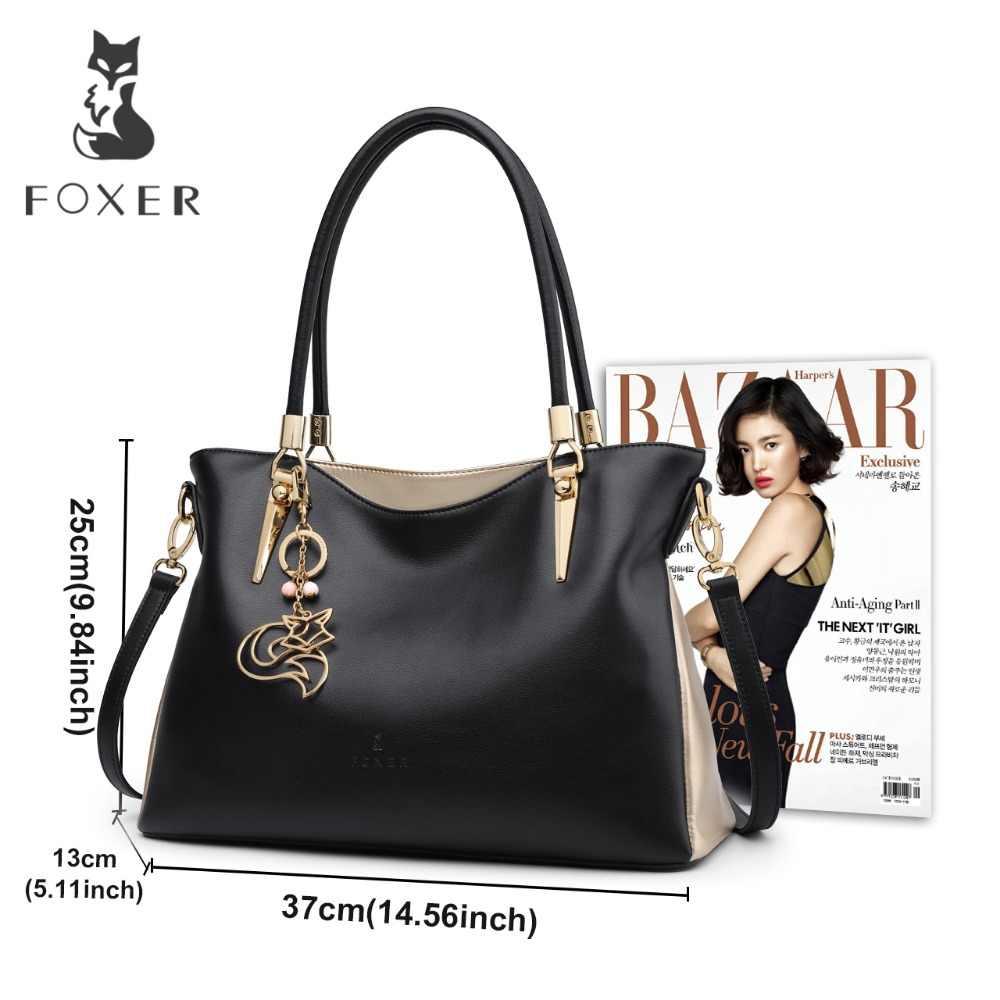 Foxer marca de couro das mulheres bolsa & bolsa de ombro feminina moda bolsas senhora totes crossbody sacos