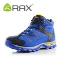 RAX  Fashion Winter Boots Comfortable Ankle Boots Men Quality Leather Footwear Warm Fur Shoes Snow Boots 33-5B123