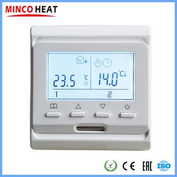 220V LCD programowalny elektryczny cyfrowy ogrzewanie podłogowe powietrze w pomieszczeniu termostat ciepły regulator podłogowy (1PC) tanie i dobre opinie MINCO HEAT CN (pochodzenie) Anti-łatwopalnych lub PC M6 716 220 v Części ogrzewania podłogowego Termostaty ogrzewania podłogowego