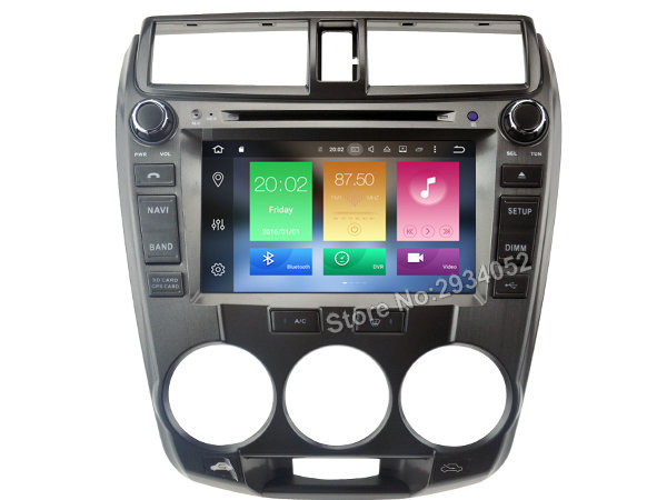 FOR HONDA CITY 2008 2012 Android 8 0 Car DVD player Octa Core 8Core 4G RAM