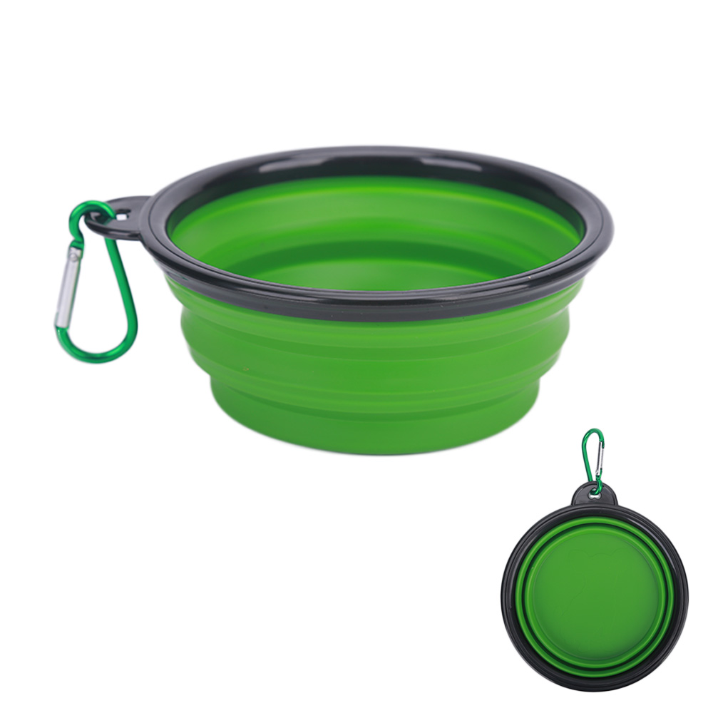 green silicone travel bowl