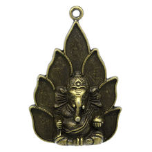 "DoreenBeads Zinc metal alloy Charm Pendants Buddha Antique Bronze Elephant Pattern 5.3cm(2 1/8"")x 3.6cm(1 3/8""),1 Piece(China)"