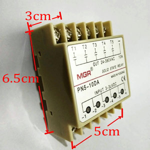 Image 3 - 10DA Din Rail montage SSR 5 canaux quintupliquent cinq entrées 3 ~ 32VDC sortie 24 ~ 380VAC cc relais à semi conducteurs
