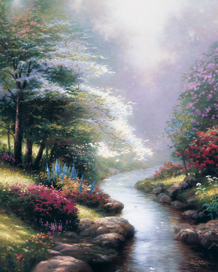 Paint Thomas Kinkade Petals Of Hope Abstract Oil Painting Abstract Large Abstract Paintings Sale Oil Painting Giclee Canvas
