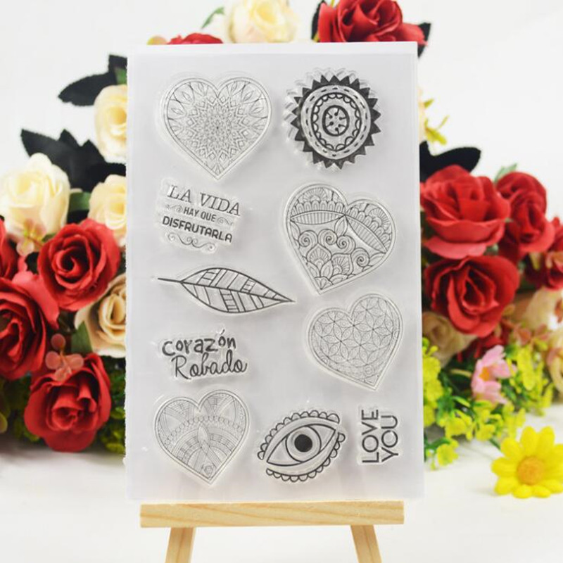 Love Transparent Clear Stamp Album DIY Diary Silicone Stamp DIY Scrapbook Card Making Christmas Decoration Kids Crafts