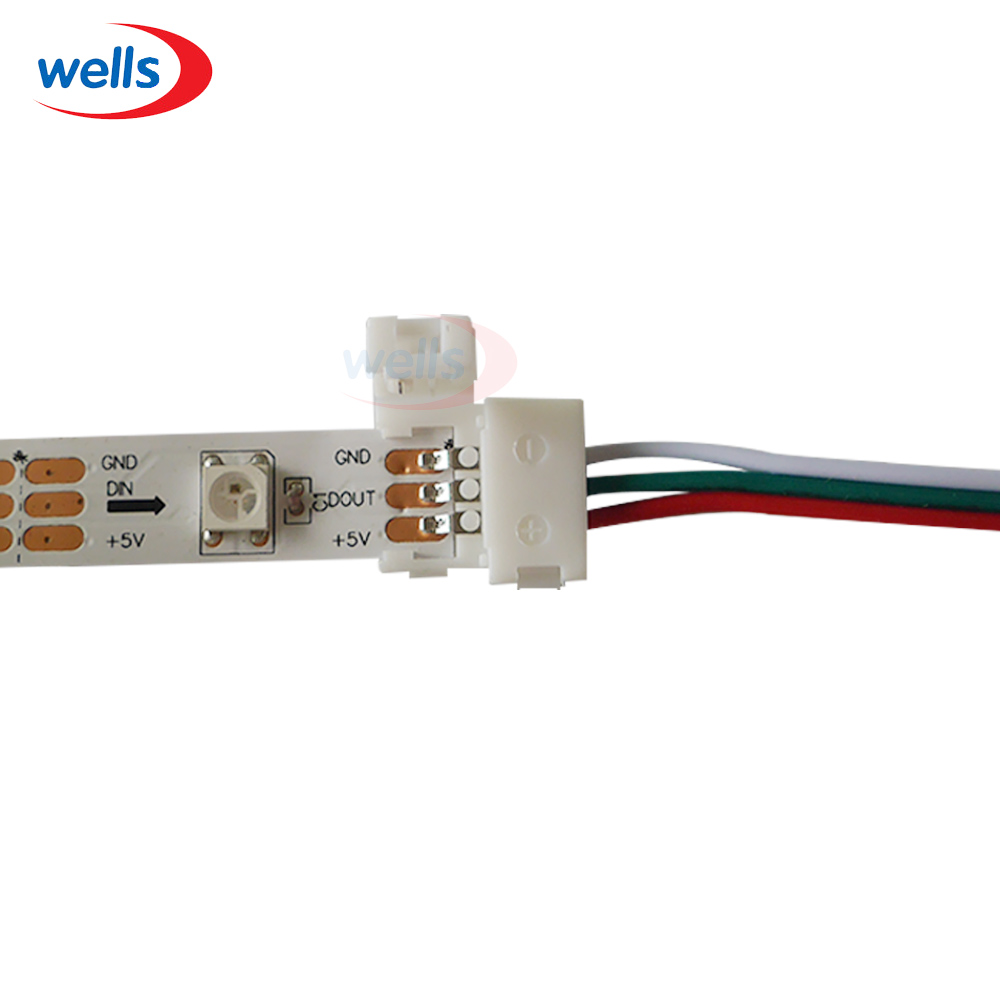 Rgb Led Strip 3 Wire Trusted Wiring Diagram Pin 15cm 5pcs Connector Cable For Ws2812b Ws2811 Lights