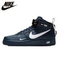 Мужские кроссовки для скейтбординга, Новое поступление, Нескользящие, удобные, для улицы, Nike Air Force 1 #804609