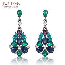 Free Shipping New Fashion Bohemia Style Elegant Champagne Crystal Long Earrings Jewelry Earrings for Women