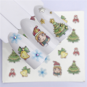 Image 5 - YZWLE 1 Sheet Winter Snowflake Full Wraps Nail Art Water Transfer Stickers Christmas Style Manicure Decal DIY