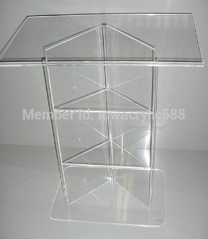 Pulpit Furniture Free Shiping High Quality Modern Design Cheap Acrylic Lecternacrylic Pulpit