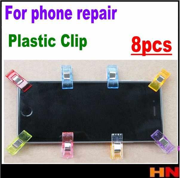 8 個プラスチッククリップ器具液晶画面固定携帯電話の修理ツールキットその処理系修理色ミックス