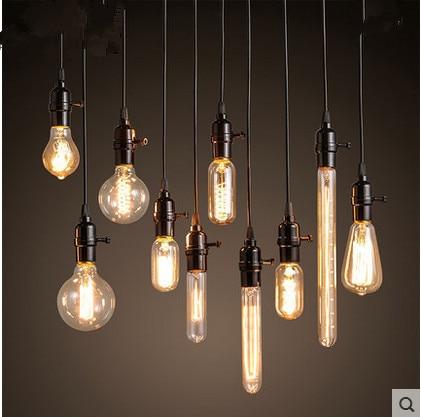 Loft Edison Retro Light Bulb Chandelier Bar Clothing Lamp Coffee Restaurant Window Small