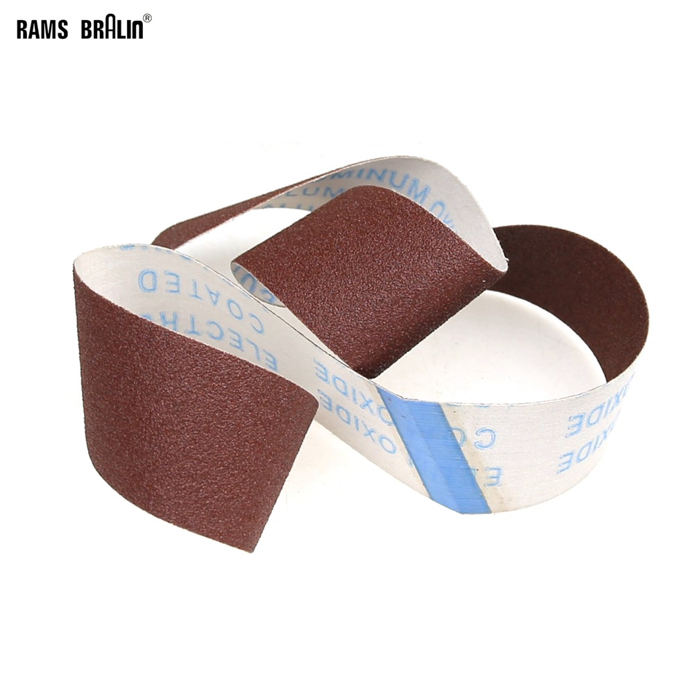 10 Pieces 50*915mm P80 Flexible Abrasive Sanding Belt For Woodworking Furniture Grinding