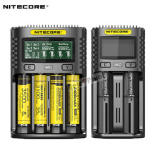 Orijinal NITECORE UMS2 UMS4 akıllı pil şarj aleti USB çıkışı 3A için LiFePO4 lityum iyon Ni MH NiCd 10440 10440 10500 18650