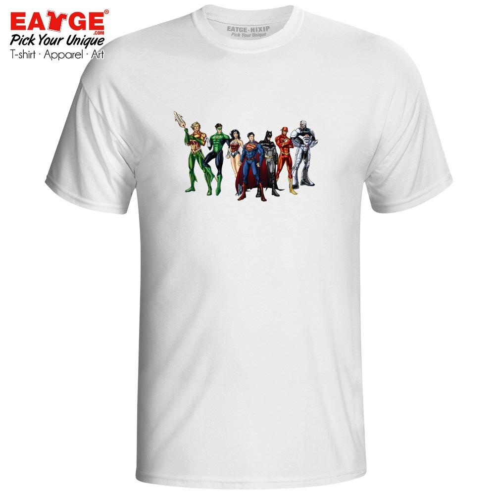 7360f4aaaf78 Μπλούζες   μπλουζάκια Where Is Superman T-shirt Justice League Aquaman  Batman Flash Wonder Women Cyborg Pop T Shirt Creative Funny Unisex Men Tee