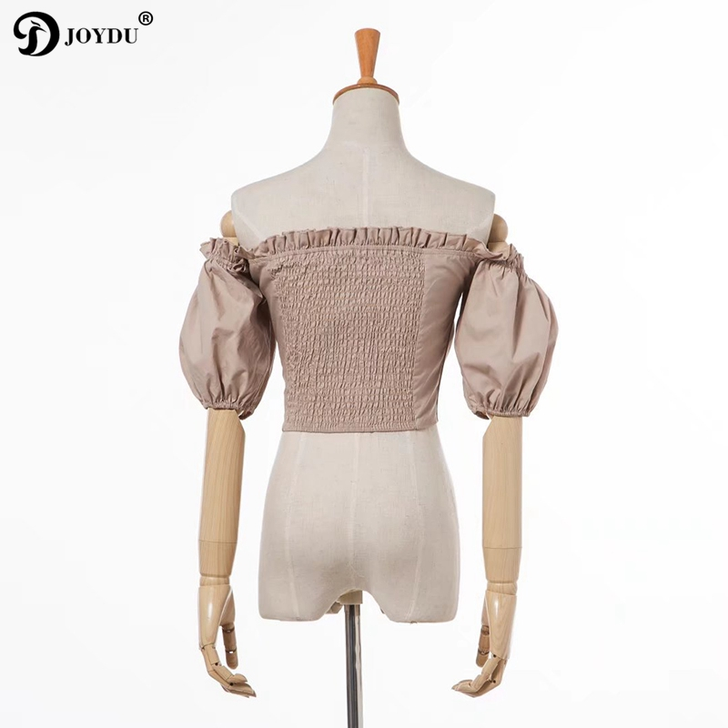449fcbc454d9 JOYDU 2018 Boho Sexy Summer Crop Top Womens Tops and Blouses Puff Sleeve Off  Shoulder Lace Up Beach Shirt kimono blusa feminina-in Blouses   Shirts from  ...