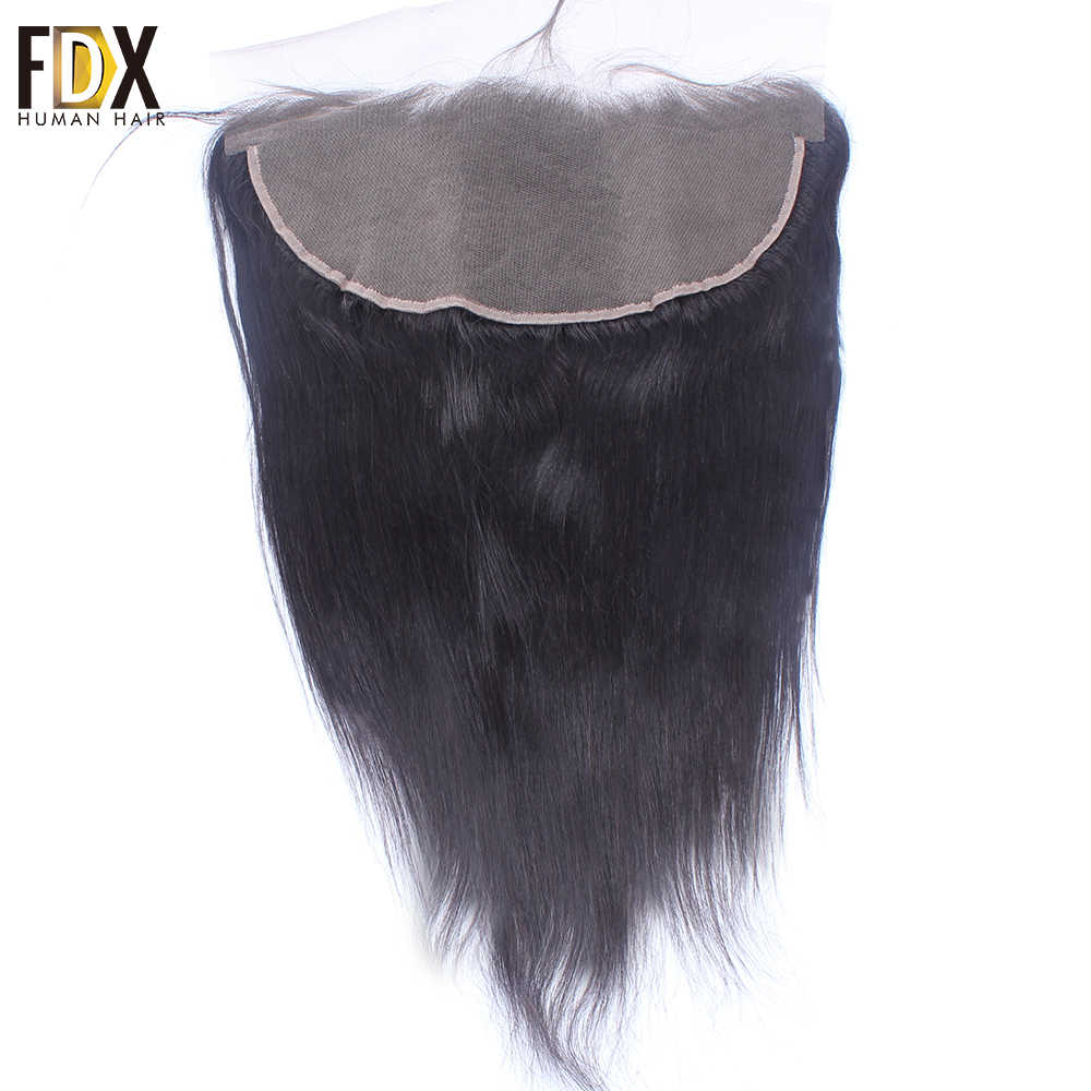 FDX Brazilian Hair Lace Frontal Closure 13x6 Swiss Lace With Baby Hair Natural Human Hair 8 10 12 14 16 18 20 Inch remy straight
