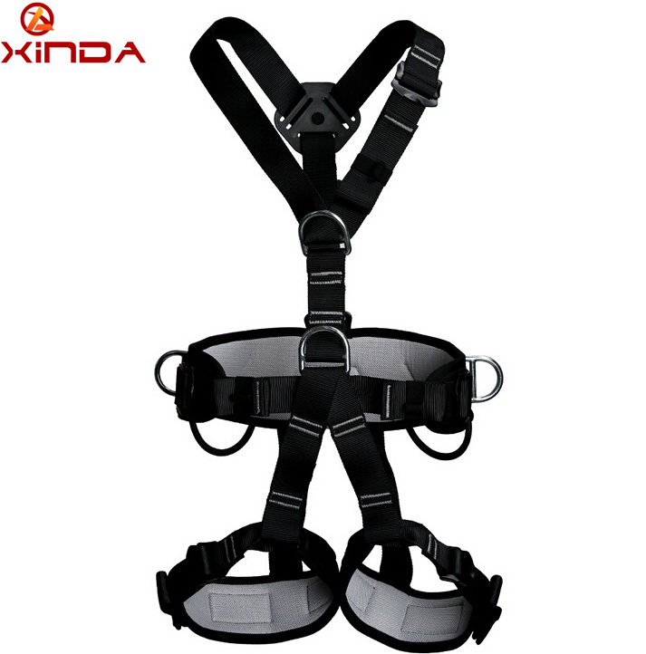 XINDA professional Rock Climbing High altitude Full Body Safety Belt Harnesses Anti Fall Protective Gear Top Quality xinda professional handle pulley roller gear outdoor rock climbing tyrolean traverse crossing weight carriage device