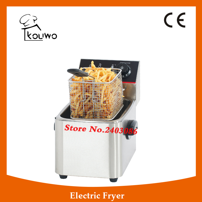 Stainless Steel table counter top food processing machine 4L electric single tank chicken potato chips deep Fryer for sale shipule fast food restaurant 30l commercial electric chicken deep fryer commercial potato chips deep fryer frying machine