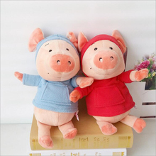 New Style Cute Lovers Pig Short Plush Toy Stuffed Animal Pigs Plush Doll Best Gift for Children Kids стоимость