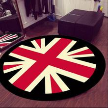 Meter word flag 3D round area rugs carpet kids room bathing rug bedroom mat non-slip 60*60 80*80 100*100 computer mat