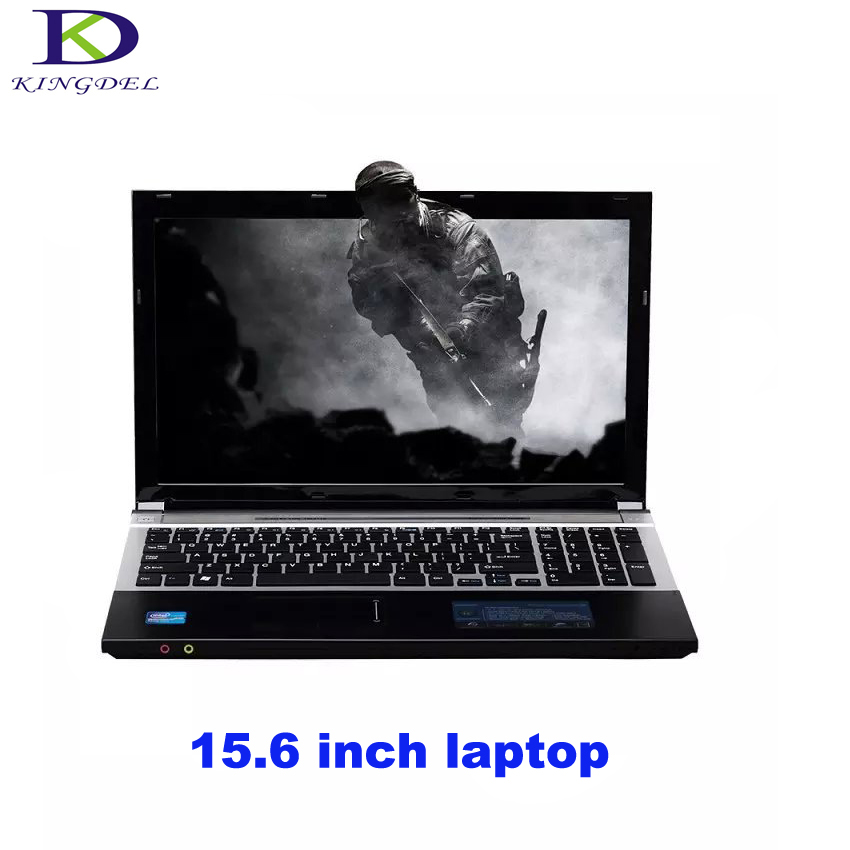 Type-C 15.6 Inch Intel Celeron J1900 Quad Core Laptop Notebook With DVD-RW For Office Home 4G RAM+1T HDD HD Graphics  Win7 A156