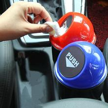 Universal Mini Car Trash Bin Auto Organizer Storage Box Garbage Can Bag Automobile Bucket