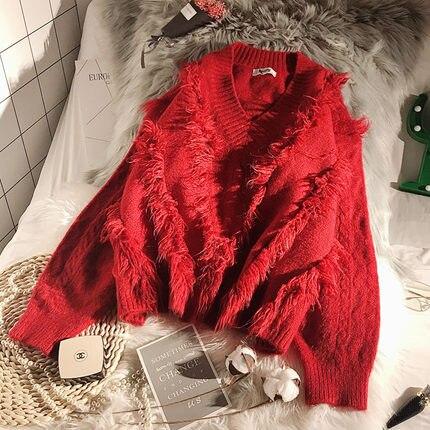 2019 Printemps nouveauté Femmes Dame Col V Pull hauts pullover offre  spéciale 4 Couleurs Chaudes Brève Pulls Vêtements