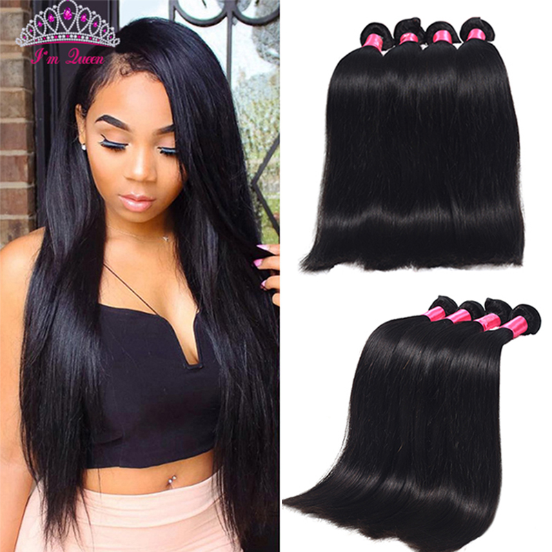 Brazilian Virgin Hair Straight 4Bundles 7A Unprocessed Brazilian Straight Hair No Tangle Brazilian Human Hair Weave Bundles Sale