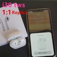 i30 TWS 1:1 Replica Pop up Wireless Earphone 6D Super Bass headset Bluetooth 5.0 Earphones 2019 hot PK i20 i10 i12 TWS W1 Chip