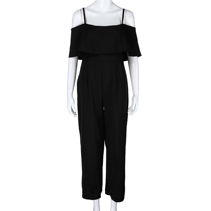 Jumpsuit Summer Women Long 2018 New Brand Hollow Out Bodysuits Sexy Clubwear Wide Legs Pants Elegant Jumpsuit combinai #J08 (21)