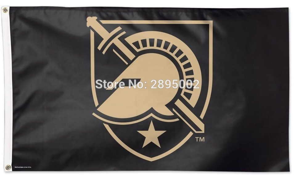 ARMY BLACK KNIGHTS WEST POINT flag Polyester grommets 3 x 5 Banner metal holes Flag-free shipping