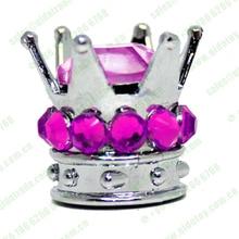 custom diamond crown silver gold wheel bike car tyre tire valve caps 90*4PCS