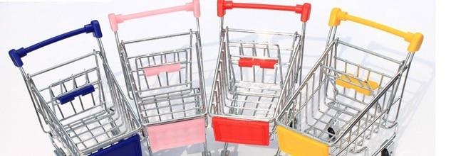 Creative mini supermarket shopping cart new receive a case mini trolley mini sundry receive the shopping cart