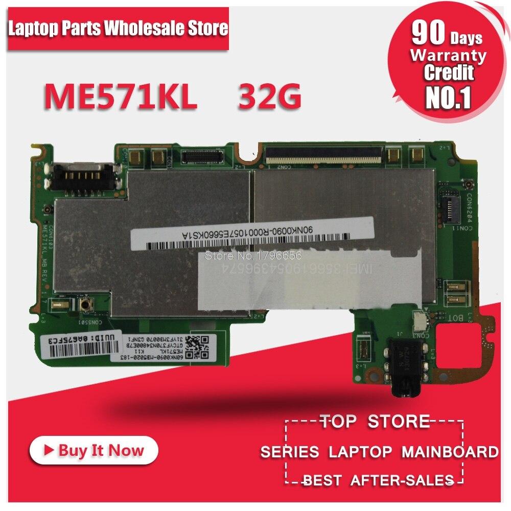 For Asus Google Nexus7 ME571KL K008 k009 generation second generation tablet motherboardMainboard With 32G Memory Logic board