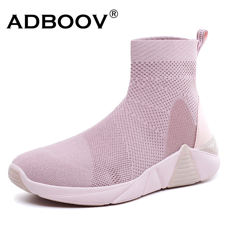 ADBOOV Breathable Ankle Boots Summer Sneakers Flat Platform