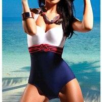 Plus Size Halter Women Sexy One Piece Swimsuit Push Up Sexy Bathing Suit Bandage Braiding Plus