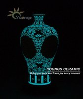 Special Jingdezhen Handmade Ceramic LUMINOUS Hollow Out Pronus Vase