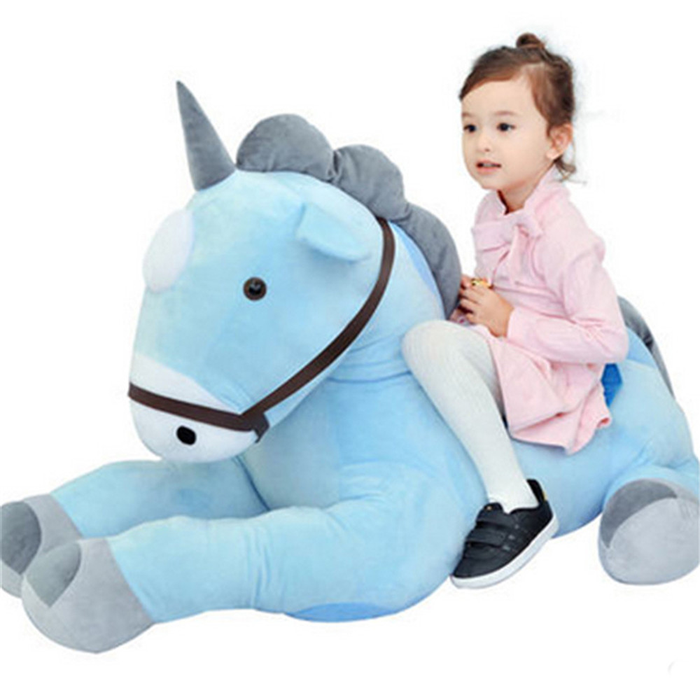 Fancytrader 39'' Giant Plush Horse Toy Big Cute Soft Stuffed Unicorn for Kids Best Gift 4 Colors 3 Sizes Accept Dropshopping