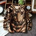 2017 crianças menino camisola da cópia do tigre camisola fina longo-luva camisola casacos frete grátis