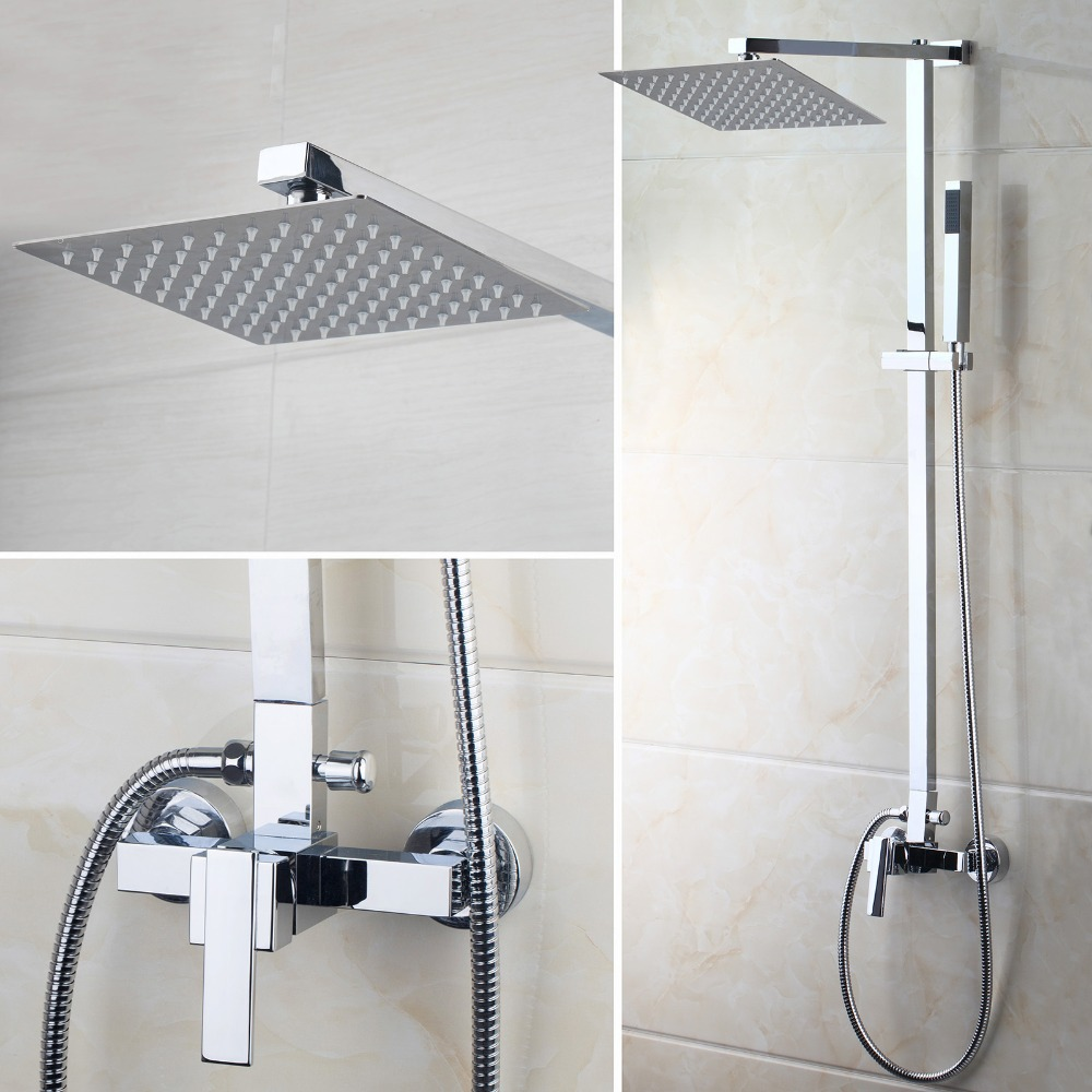 aliexpress com buy us bathroom shower faucet wall mounted bath us bathroom shower faucet wall mounted bath shower mixer tap 52004 torneira do chuveiro with hand shower rain shower faucet