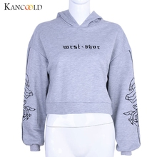 KANCOOLD Sweatshirts Autumn and winter letters embroidery Hoodies Printing Short Bat Sleeve hoodies women big size dec5