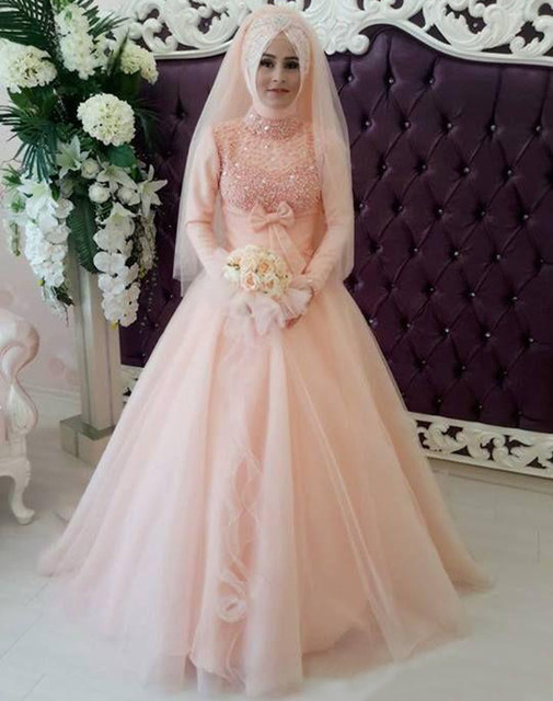 Online Shop Vestidos De Novia 2015 Unique Muslim Wedding Dresses ...