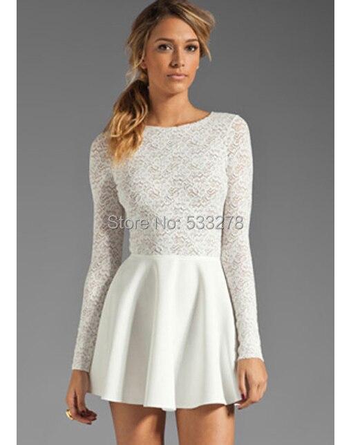 Sonderteil Entdecken Rabattgutschein Großhandel Sexy frauen Clubwear Elegante Lange Ärmel Weißes ...